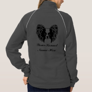 Kennel name and papillon face sweater