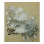 Kennesaw's Bombardment by Alfred Rudolph Waud Print