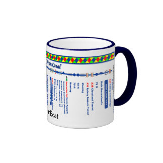 Kennet and Avon Canal Route Map (2 of 4) Ringer Mug