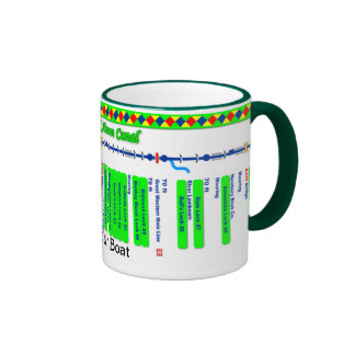 Kennet and Avon Canal Route Map (4 of 4) Ringer Mug