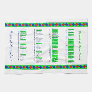 Kennet & Avon Canal - UK Inland Waterways - Green Hand Towel