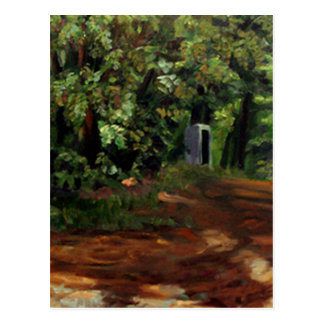 Kenneth_Cobb_landscapesketch2_2001_OilonBoard_12in Postcard