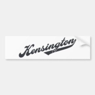 Kensington Bumper Stickers