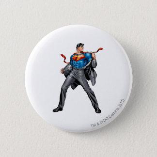 Kent changes into Superman 6 Cm Round Badge