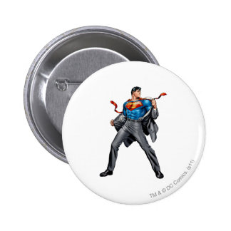 Kent changes into Superman 6 Cm Round Badge