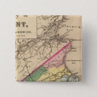 Kent Co, NB 15 Cm Square Badge