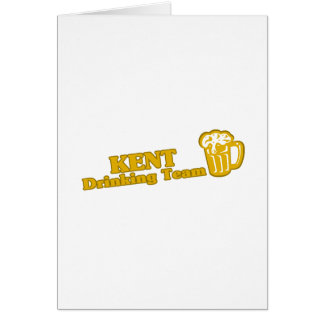 Kent Drinking Team tee shirts Greeting Card