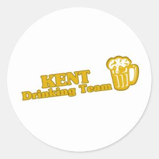 Kent Drinking Team tee shirts Round Sticker