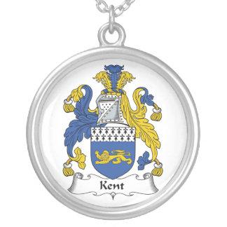 Kent Family Crest Round Pendant Necklace