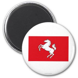 Kent Flag 6 Cm Round Magnet