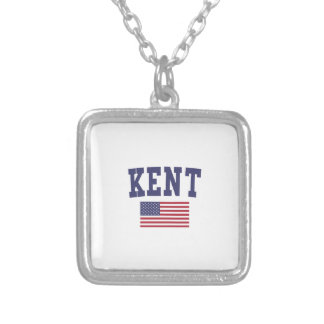Kent US Flag Silver Plated Necklace