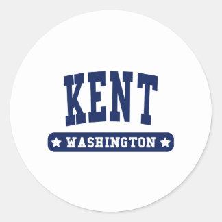 Kent Washington College Style tee shirts Round Sticker