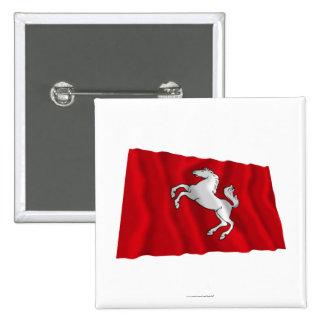Kent Waving Flag 15 Cm Square Badge
