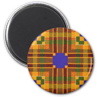 Kente 11 6 cm round magnet