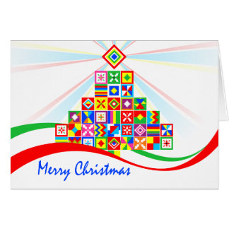 Kente Cloth Pattern African Print Christmas Card