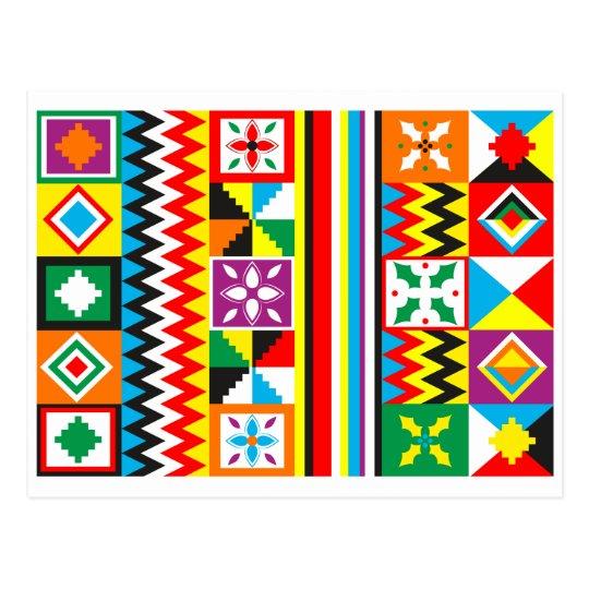 Kente Cloth Pattern African Tribal Print Postcard