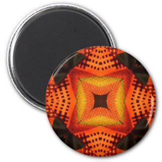 Kente Design 1 6 Cm Round Magnet