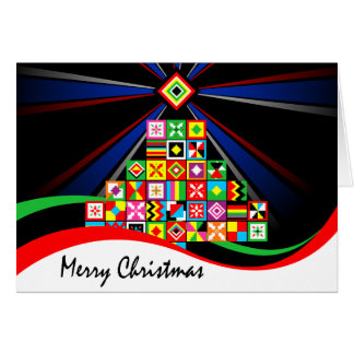 Kente Pattern African Art Tribal Christmas Card