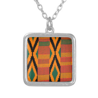 Kente Pattern Personalized Necklace