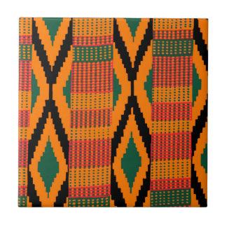 Kente Pattern Ceramic Tile