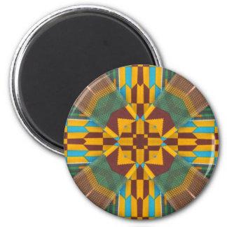 Kente Print 7 Fridge Magnets