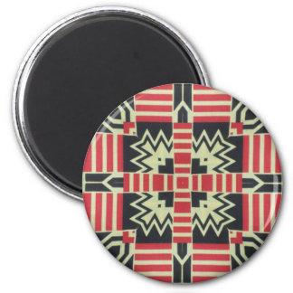 Kente Print 8 6 Cm Round Magnet