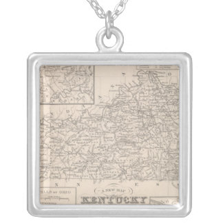 Kentucky 3 silver plated necklace