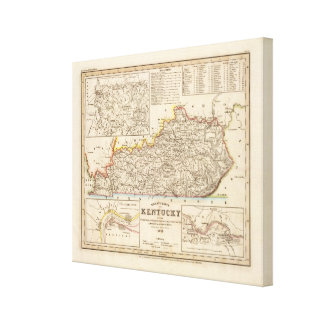 Kentucky 6 stretched canvas prints