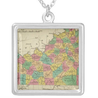 Kentucky 6 silver plated necklace