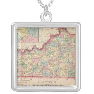 Kentucky 7 silver plated necklace