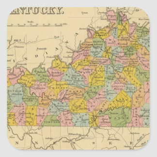 Kentucky 9 square sticker