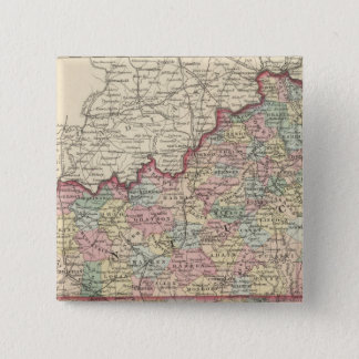Kentucky and Tennessee 2 15 Cm Square Badge