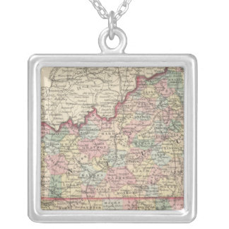 Kentucky and Tennessee 2 Silver Plated Necklace
