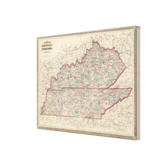 Kentucky and Tennessee 3 Canvas Prints