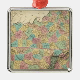 Kentucky and Tennessee 3 Christmas Ornament