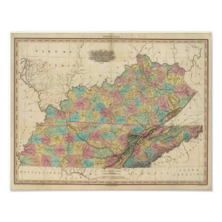Kentucky and Tennessee 3 Print