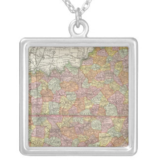Kentucky and Tennessee 3 Silver Plated Necklace