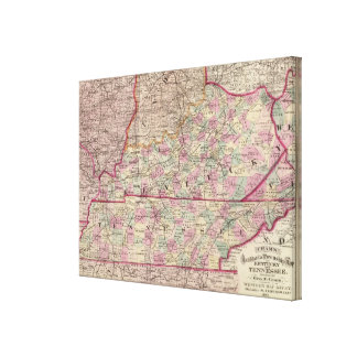 Kentucky and Tennessee 4 Canvas Print