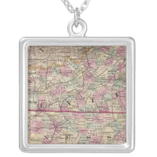 Kentucky and Tennessee 4 Silver Plated Necklace