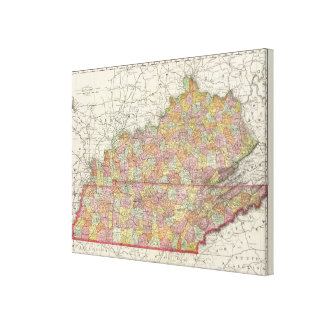 Kentucky and Tennessee 5 Stretched Canvas Print