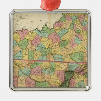 Kentucky and Tennessee 6 Christmas Ornament