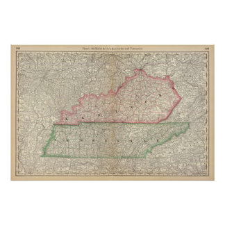 Kentucky and Tennessee 6 Poster