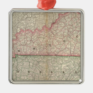 Kentucky and Tennessee 7 Christmas Ornament