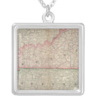 Kentucky and Tennessee 7 Silver Plated Necklace