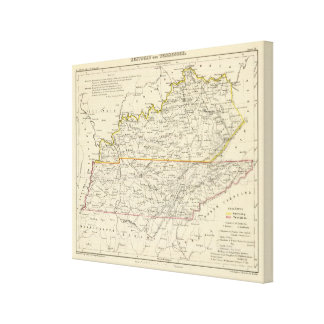 Kentucky and Tennessee Gallery Wrap Canvas