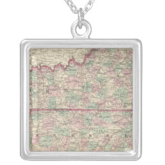 Kentucky and Tennessee Silver Plated Necklace