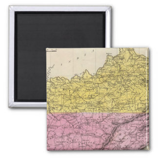 Kentucky And Tennessee Square Magnet