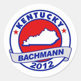 Kentucky Bachmann Round Sticker