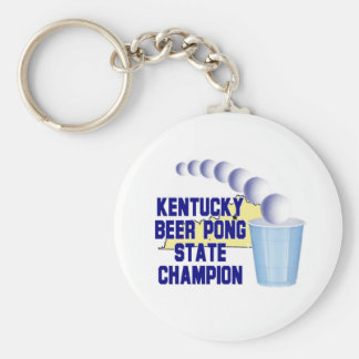 Kentucky Beer Pong Champion Key Chains