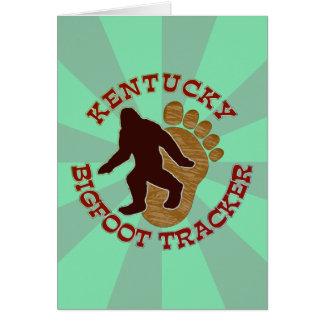 Kentucky Bigfoot Tracker Card